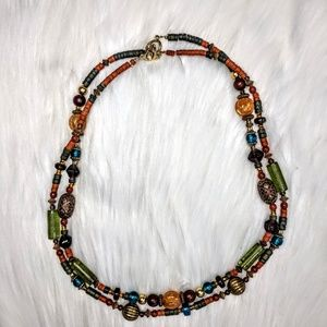 Jewelry - Mixed Media Double Strand Necklace
